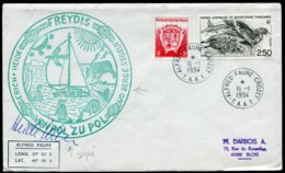 17176 T.A.A.F N°176° FREYDIS Erich Heide Du Pôle Nord Au Pôle Sud   Crozet  Du 16.1.1994   TB - Cartas