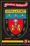 CPSM 27 LYONS LA FORET BLASON ADHESIF - Lyons-la-Forêt