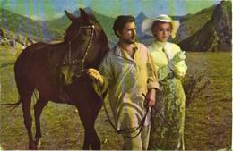 Movie Star I.Kvasha And A.Vertinskaja With Horse - Paarden