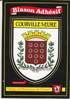 CPSM 27  COURVILLE SUR EURE BLASON ADHESIF  ETAT - France