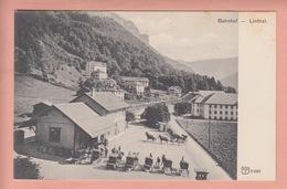 OUDE POSTKAART - ZWITSERLAND - SCHWEIZ -     LINTHAL - BAHNHOF - STATION MET KOETSEN - GL Glarus