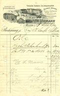 """HILDEN B Düsseldorf 1902 Rechnung Deko """" Fr.Viemann Drogen Farben Kolonialwaren Salz Reis Graupen """" - Droguerie & Parfumerie"""