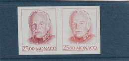 Monaco Non Dentelé 1707 En Paire Essai De Couleur - Autres