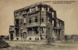 Foto : Raversyde, Raversijde,  Middelkerke : Villas Detruites Par Les Allemands , Villas Door De Duitsers Vernield - Guerre, Militaire
