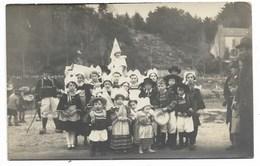 29-PONT-AVEN-CARTE PHOTO-Groupe Enfants Déguisés...  Animé - Pont Aven