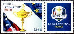 France Sport Golf N° 5245_A ** Ryder Cup (tarif Postal Pour Plus De 20 Grammes International) - Golf