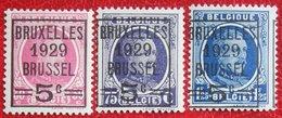 ALBERT I HOUYOUX Overprint Complete Set 1929 OBP 273-275 (Mi 251-253) POSTFRIS / MNH **BELGIE / BELGIEN / BELGIUM - Belgium