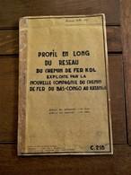LOT 23stuks  Documenten   Du Chemin  DE  FER   EXPLOITE Par La   BAS  --CONGO  Au  KATANGA  1955  ---1967 - Chemin De Fer