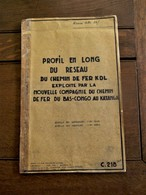 LOT 23stuks  Documenten   Du Chemin  DE  FER   EXPLOITE Par La   BAS  --CONGO  Au  KATANGA  1955  ---1967 - Spoorweg