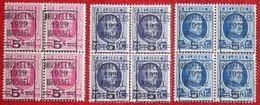 ALBERT I HOUYOUX Overprint Complete Set 1929 OBP 273-275 (Mi 251-253) POSTFRIS Ongbruik MNH MHBELGIE BELGIEN BELGIUM - Unused Stamps