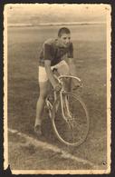 Boy Guy On Racing Bicycle Old Photo 9x14 Cm #30428 - Cyclisme