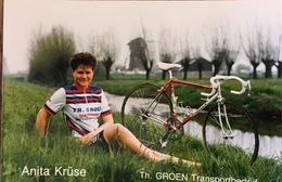 Anita Kruse - Dames Wielerploeg Th Groen Transportbedrijf - 1988 - Cyclisme