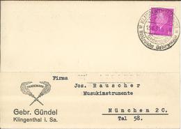 Ebert Klingenthal Sachsen Wintersport Waldreiche Gebirgslage - Gebrüder Gündel 1931 - Lettres & Documents
