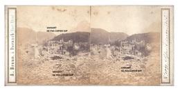 Rare Originale Photo  Stéréo Historique 1861 Suisse Glaris Incendié ,  Adolphe Braun à Dornach (voir Descriptif Svp) - Places
