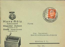 Hindenburg Klingenthal Sachsen Wintersport Waldreiche Gebirgslage - Hans Rölz Organino - Illustriertes Kuvert Musik - Deutschland