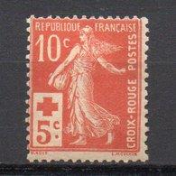 - FRANCE N° 147 Neuf ** MNH - 10 C. + 5c. Rouge Semeuse Camée Croix-Rouge - Cote 100 EUR - - 1906-38 Semeuse Camée