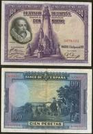 Spain P 76 - 100 Pesetas 15.8.1928 - XF - [ 1] …-1931 : Prime Banconote (Banco De España)