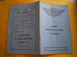 Albert Secondary School Magazine Glasgow; 13 Photos Hockey,orchestra,champions.. Nombreuses Pub Springburn & Glasgow - Enfants