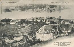 Salers Vue Prise De La Peyrade. Texte En Occitan . Langue Oc - Autres Communes