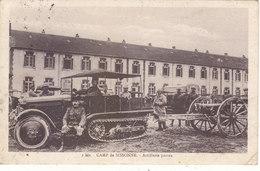 CAMP DE SISSONNE :CARTE N.TROUVEE SUR SITES.ARTILLERIE PORTEE.CHENILLARD.1933.N°2BIS.ETAT CORRECT.PETIT PRIX COMPAREZ!!! - Sissonne