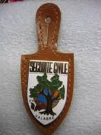 Broche + Cuir De L'Insigne De La Sécurité Civile De L'Entente VALABRE (Administration Gouvernementale à Aix-en-Provence) - Politie & Rijkswacht