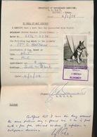 DEPARTEMENT OF VETERINARY SERVICES P.O.BOX 5 ELDORET  KENYA  CERTIFY : RABIES VACICINE  2/3/54 - Documents Historiques
