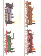 Trains - 16 CP Dans Pochette De La SNCB 1835-1935 - Dessinateur Paul Funken - XX/MNH - Chemins De Fer