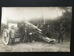 CPA Carte Photo Du 22 Juin 1915 Groupe De Soldats Autour D'un Canon - Guerre 1914-18
