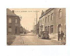 Aubers-la Poste-carte écrite-1933 - France