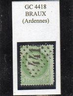 Ardennes - N°53 Obl GC 4418 Braux - 1871-1875 Cérès