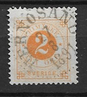 1886 USED  Sweden, (posthorn On Back) Michel 29 - Gebraucht