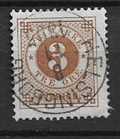 1886USED  Sweden, (posthorn On Back) Michel 30 - Gebraucht