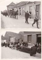 """Baasrode, 2 Echte Foto's Begrafenis """"Frans Van Damme"""" - Belgique"""