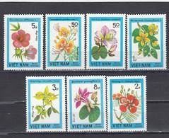 Vietnam 1984 - Flowering Pawls, Mi-Nr. 1417/23, Perf., MNH** - Vietnam