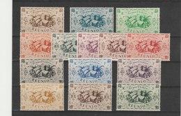 REUNION**LUXE N° 233/246 COTE 11.00 - Réunion (1852-1975)