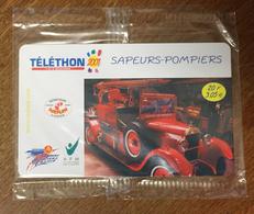 SAPEURS POMPIERS LE CAMION TÉLÉTHON SEPATEL 20F CARTE À CODE NSB 2001 PHONECARD CARD - Feuerwehr