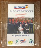 SAPEURS POMPIERS LA GRANDE TENTATIVE TÉLÉTHON SEPATEL 20F CARTE À CODE NSB 2001 PHONECARD CARD - Feuerwehr