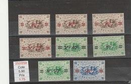 REUNION**LUXE N° 252/259 COTE 5.90 - Réunion (1852-1975)