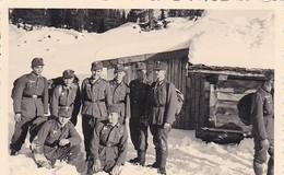 Foto Deutsche Soldaten Im Schnee - Gebirgsjäger - Reiteralpe - 1937 - 8,5*5,5cm  (48042) - Voorwerpen