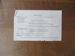 ETAT FRANCAIS LILLE LE 2 DECEMBRE 1943 LE PREFET F.CARLES OBJET CINEMATOGRAPHIE-INTERDICTION DE FILMS ACCORDS AUTORITES - Historische Dokumente