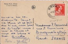 BELGIQUE YT 840 SEUL SUR CP OBLITERE ORVAL ABBAYE SUR CP POUR LA FRANCE - Belgique