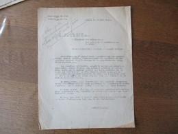 LILLE LE 24 JUIN 1942 LE PREFET F.CARLES LES AUTORITES ALLEMANDES AFFIRMENT QUE LA CENSURE EXERCEE PAR LEURS SERVICES E - Historische Dokumente