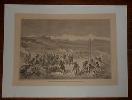 Une Partie De Balle Chez Les Indiens Choctaws. 1860. - Stampe & Incisioni