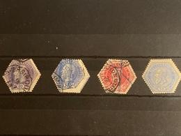 Bélgica Nº 3, 7, 16 Y 17. Año 1871/99. - Telégrafo