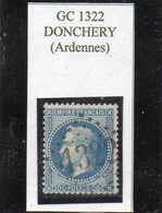 Ardennes - N°29B Obl GC 1322 Donchery - 1863-1870 Napoléon III Lauré