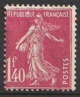 France N° 196 MH Semeuse Fond Plein (F19) - 1906-38 Sower - Cameo