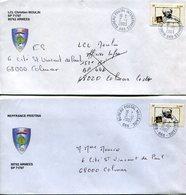 (vrac 19) 2 Enveloppes Dernier Jour BPM 665, 31.12.2002 Et 1er Jour BPI 665 2.1.2003 - Cachets Militaires A Partir De 1900 (hors Guerres)