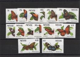 Nevis - Serie Official, Yvert 41/54 - Farfalle/Butterflies - Farfalle