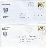 (vrac 21) 2 Enveloppes Dernier Jour BPM 665, 31.12.2002 Et 1er Jour BPI 665 2.1.2003 - Cachets Militaires A Partir De 1900 (hors Guerres)