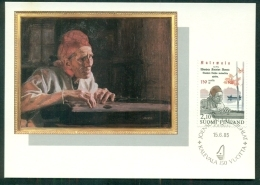 CM-Carte Maximum Card # 1985-FINLANDE-SUOMI # Celebrity # Larin Paraske ,rune Singer # Painting By  Albert Edelfelt - Maximum Cards & Covers